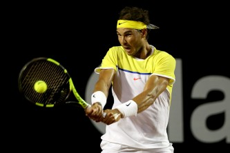 Rafael Nadal of Spain plays Palo Cuevas of Uraguay during the Rio Open at Jockey Club Brasileiro on February 20, 2016 in Rio de Janeiro, Brazil. (Feb. 19, 2016 - Source: Matthew Stockman/Getty Images South America)