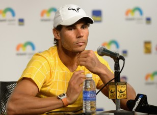 Rafael Nadal attends the Miami Open - Celebrity Sightings at Crandon Park Tennis Center on March 25, 2016 in Key Biscayne, Florida. (March 24, 2016 - Source: Gustavo Caballero/Getty Images North America)