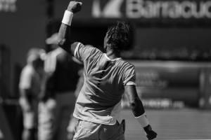 Kei Nishikori plays Rafael Nadal in Men's Singles Quarterfinals in Stadium 1 at the Indian Wells Tennis Garden in Indian Wells, California Friday, March 18, 2016. (Photo by Jared Wickerham/BNP Paribas Open)