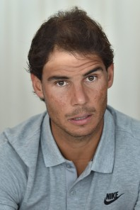 Rafael Nadal of Spain speaks with journalist during media day during day One of the ATP Monte Carlo Masters, at the Monte-Carlo Country Club on April 10, 2016 in Monte-Carlo, Monaco. (April 9, 2016 - Source: Valerio Pennicino/Getty Images Europe)