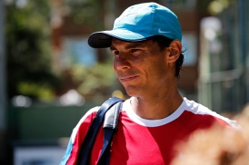 Rafa Nadal during the training in the Open Banc Sabadell, 64 Trophy Conde de Godo, played on the RCT Barcelona1899, on april 19, 2016. (Photo by Urbanandsport/NurPhoto via Getty Images)