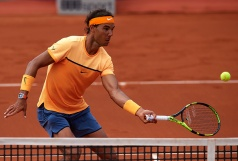 BARCELONA, SPAIN - APRIL 21: Rafael Nadal of Spain in action against Albert Montanes of Spain during day four of the Barcelona Open Banc Sabadell at the Real Club de Tenis Barcelona on April 21, 2016 in Barcelona, Spain. (Photo by Manuel Queimadelos Alonso/Getty Images)