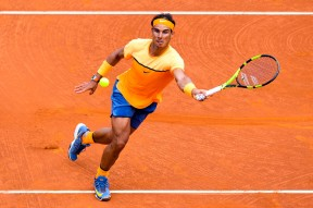 Rafael Nadal of Spain plays a forehand against Albert Montanez during day four of the Barcelona Open Banc Sabadell at the Real Club de Tenis Barcelona on April 21, 2016 in Barcelona, Spain. Nadal won 6-2, 6-2. (April 20, 2016 - Source: David Ramos/Getty Images Europe)