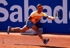 Rafa Nadal during the match against Philipp Kohlschreiber, corresponding to the 1/2 final of the Open Banc Sabadell, 64 Trophy Conde de Godo, played on the RCT Barcelona1899, on april 23, 2016. (Photo by Urbanandsport/NurPhoto via Getty Images)