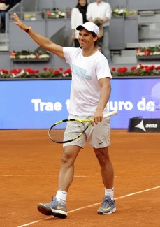 MADRID, SPAIN - APRIL 29: Rafa Nadal attends Charity Day Tournament during Mutua Madrid Open at La Caja Magica on April 29, 2016 in Madrid, Spain. (Photo by Europa Press/Europa Press via Getty Images)
