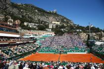 MONTE-CARLO, MONACO - APRIL 13: A general view as Rafael Nadal of Spain takes on Aljaz Bedene of Great Britain during their second round match on day four of the Monte Carlo Rolex Masters at Monte-Carlo Sporting Club on April 13, 2016 in Monte-Carlo, Monaco. (Photo by Michael Steele/Getty Images)