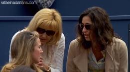 Rafael Nadal sister Isabel, mother Ana María Parera and girlfriend Maria Francisca Perello at Barcelona Open