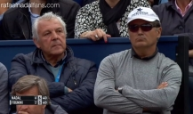 Uncle Toni Nadal watches Rafa's match at the Barcelona Open QF 2016
