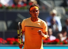during day four of the Mutua Madrid Open tennis tournament at the Caja Magica on May 03, 2016 in Madrid, Spain.
