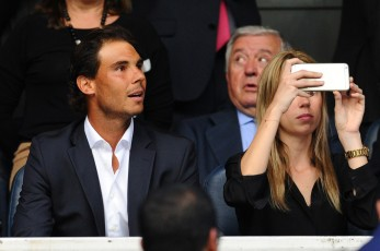 MADRID, SPAIN - MAY 04: Tennis player Rafael Nadal of Spain attends the UEFA Champions League semi final, second leg match between Real Madrid and Manchester City FC at Estadio Santiago Bernabeu on May 4, 2016 in Madrid, Spain. (Photo by David Ramos/Getty Images )
