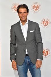 Rafael Nadal at Grand Palais on May 19, 2016 in Paris, France.