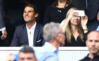 Rafael Nadal Attends Real Madrid vs. Manchester City at Santiago Bernabeu Champions League 2016 SF