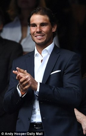 Rafael Nadal Attends Real Madrid vs. Manchester City