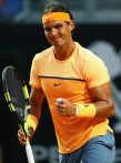 ROME, ITALY - MAY 11: Rafa Nadal of Spain in action action against Philipp Kohlscreiber of Germany during day four of the The Internazionali BNL d'Italia 2016 on May 11, 2016 in Rome, Italy. (Photo by Matthew Lewis/Getty Images)