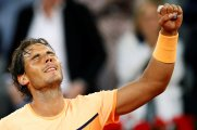 Tennis - Madrid Open - Rafael Nadal of Spain v Sam Querrey of USA - Madrid, Spain - 5/5/16 Nadal celebrates after winning the match. REUTERS/Juan Medina