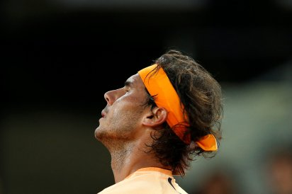 Tennis - Madrid Open - Rafael Nadal of Spain v Sam Querrey of USA - Madrid, Spain - 5/5/16 Nadal reacts during the match. REUTERS/Juan Medina