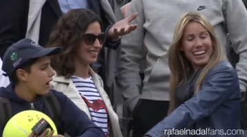 Rafael Nadal girlfriend Maria Francisca Perello and sister Maria Isabel at Rome Masters R3 2016