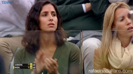 Rafael Nadal girlfriend Maria Francisca Perello at Rome Masters QFs 2016