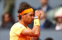 MADRID, SPAIN - MAY 07: Rafael Nadal of Spain in reacts against Andy Murray of Great Britain in the semi finals during day eight of the Mutua Madrid Open tennis tournament at the Caja Magica on May 07, 2016 in Madrid, Spain. (Photo by Julian Finney/Getty Images)