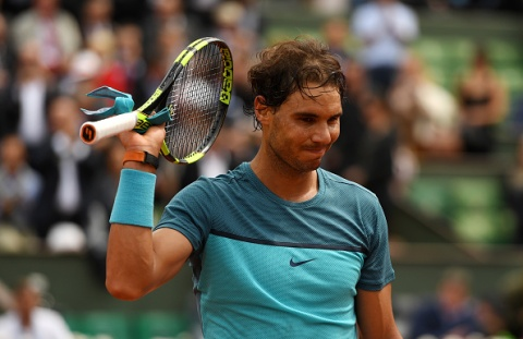 during the ***** Singles second round match against ***** on day five of the 2016 French Open at Roland Garros on May 26, 2016 in Paris, France.