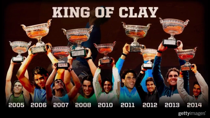Rafael Nadal King of Clay French Open Roland Garros