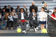 PARIS, FRANCE - MAY 18: (L-R) Malgosia Bela, her son Jozef Bela, Tennis player Rafael Nadal, Model Andres Velencoso Segura, Actress Justine Fraioli and Model Marie-Ange Casta attend Tommy Hilfiger hosts Tommy X Nadal Party - Tennis Soccer Match on May 18, 2016 in Paris, . (Photo by Rindoff Petroff/Hekimian/Getty Images for Tommy Hilfiger)