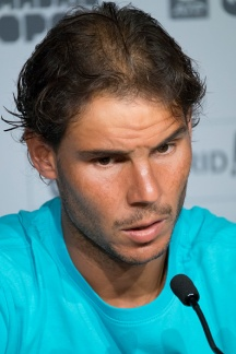 Press conference Rafael Nadal during the Mutua Madrid Open tennis tournament at the Caja Magica on May 7, 2016, in Madrid, Spain. (Photo by Oscar Gonzalez/NurPhoto via Getty Images)