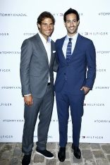 PARIS, FRANCE - MAY 18: (L-R) Rafael Nadal and Sami Slimani attend the Tommy X Nadal party hosted by Tommy Hilfigeron May 18, 2016 in Paris, France. (Photo by Rindoff Petroff/Hekimian/Getty Images for Tommy Hilfiger)