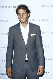 (L-R) ?? attend the Tommy Hilfiger Hosts Tommy X Nadal Party - Photocall on May 18, 2016 in Paris, France.