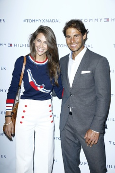 PARIS, FRANCE - MAY 18: (L-R) Ophelie Meunier and Rafael Nadal attend the Tommy X Nadal party hosted by Tommy Hilfigeron May 18, 2016 in Paris, France. (Photo by Rindoff Petroff/Hekimian/Getty Images for Tommy Hilfiger)