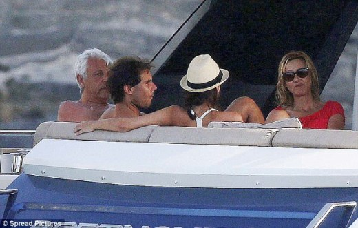 Rafael Nadal continues recovery from wrist injury on holiday with girlfriend Maria Francisca Perello (13)