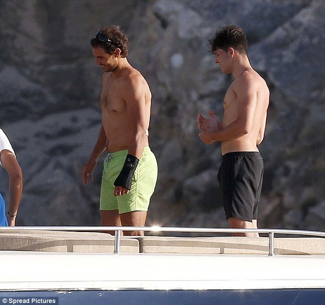 Rafael Nadal continues recovery from wrist injury on holiday with girlfriend Maria Francisca Perello  (8)