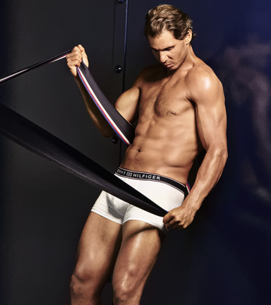 Rafael Nadal shows off his insane body in Tommy Hilfiger underwear 2016