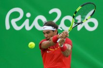 2016 Rio Olympics - Tennis - Preliminary - Men's Singles First Round - Olympic Tennis Centre - Rio de Janeiro, Brazil - 07/08/2016. Rafael Nadal (ESP) of Spain in action against Federico Delbonis (ARG) of Argentina. REUTERS/Toby Melville FOR EDITORIAL USE ONLY. NOT FOR SALE FOR MARKETING OR ADVERTISING CAMPAIGNS.