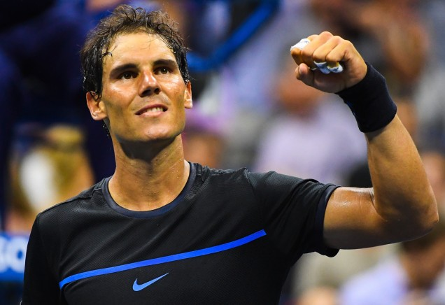 Rafael Nadal of Spain celebrates after defeating Andreas Seppi of Italy during his second round Men's Singles match on Day Three of the 2016 US Open at the USTA Billie Jean King National Tennis Center on August 31, 2016 in the Flushing neighborhood of the Queens borough of New York City. (Aug. 30, 2016 - Source: Alex Goodlett/Getty Images North America)