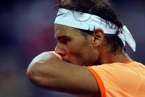 Tennis - Shanghai Masters tennis tournament - Shanghai, China - 12/10/16. Rafael Nadal of Spain reacts during his match against Viktor Troicki of Serbia. REUTERS/Aly Song