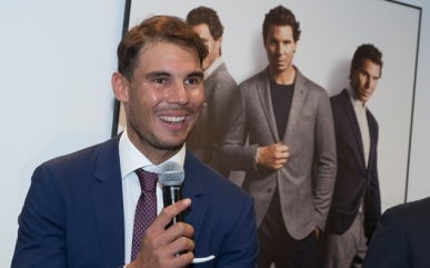 Rafael Nadal attends the presentation of the new collection of Tommy Hilfiger in Madrid. Spain 28 November 2016 (Photo by Oscar Gonzalez/NurPhoto via Getty Images)
