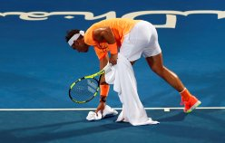 Tennis - Mubadala World Tennis Championship - Rafael Nadal of Spain v Tomas Berdych of Czech Republic- Abu Dhabi, UAE - 29/12/16 - Rafael Nadal of Spain. REUTERS/Ahmed Jadallah