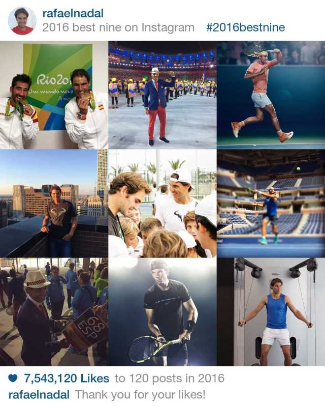 rafael-nadal-top-posts-on-instagram-in-2016