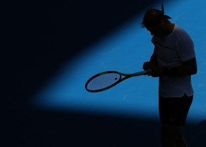 Rafael Nadal of Spain looks on in his third round match against Alexander Zverev of Germany on day six of the 2017 Australian Open at Melbourne Park on January 21, 2017 in Melbourne, Australia. (Jan. 20, 2017 - Source: Ryan Pierse/Getty Images AsiaPac)