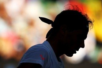 Rafael Nadal of Spain looks on in his third round match against Alexander Zverev of Germany on day six of the 2017 Australian Open at Melbourne Park on January 21, 2017 in Melbourne, Australia. (Jan. 20, 2017 - Source: Clive Brunskill/Getty Images AsiaPac)