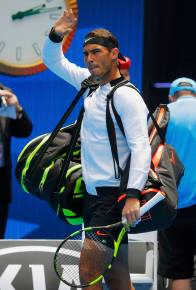 Tennis - Australian Open - Melbourne Park, Melbourne, Australia - 17/1/17 Spain's Rafael Nadal walks onto the court before his Men's singles first round match against Germany's Florian Mayer. REUTERS/Jason Reed