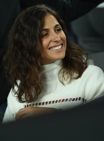 Xisca Perello, girlfriend of Rafael Nadal of Spain watches him play in his second round match against Marcos Baghdatis of Cyprus on day four of the 2017 Australian Open at Melbourne Park on January 19, 2017 in Melbourne, Australia. (Jan. 18, 2017 - Source: Clive Brunskill/Getty Images AsiaPac)