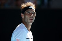 Rafael Nadal of Spain looks on in his third round match against Alexander Zverev of Germany on day six of the 2017 Australian Open at Melbourne Park on January 21, 2017 in Melbourne, Australia. (Jan. 20, 2017 - Source: Scott Barbour/Getty Images AsiaPac)