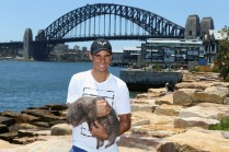 Rafael Nadal poses with Lola the wombat ahead of the Fast4International Exhibition this evening at the ICC Sydney Theatre on January 9, 2017 in Sydney, Australia. (Jan. 8, 2017 - Source: Jason McCawley/Getty Images AsiaPac