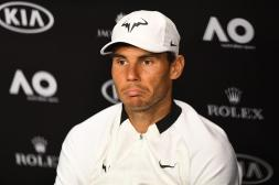 Rafael Nadal of Spain speaks at a press conference after being defeated by Roger Federer of Switzerland in the Mens Singles Final at the Australian Open Grand Slam tennis tournament in Melbourne, Victoria, Australia, 29 January 2017. (España, Abierto, Tenis, Suiza) EFE/EPA/JULIAN SMITH
