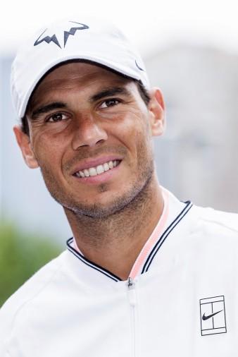Rafael Nadal of Spain during a Kia Key handover ceremony at Garden Square in Melbourne Park January 15, 2017 in Melbourne, Australia. (Jan. 14, 2017 - Source: Daniel Pockett/Getty Images AsiaPac)