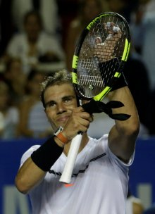 Tennis - Mexican Open - Men's Singles - First Round - Acapulco, Mexico- 28/2/17. Spain's Rafael Nadal celebrates his victory against Germany's Mischa Zverev. REUTERS/Henry Romero??