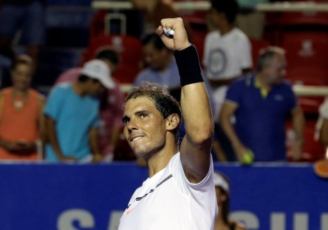 ennis - Mexican Open - Men's Singles - Quarter-Final - Acapulco, Mexico- 02/03/17. Spain's Rafael Nadal celebrates his victory against Yoshihito Nishioka of Japan. REUTERS/Henry Romero