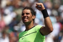 Rafael Nadal celebrates defeating Fabio Fognini of Italy in the semi finals at Crandon Park Tennis Center on March 31, 2017 in Key Biscayne, Florida. (Julian Finney/Getty Images)